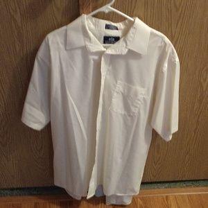 Mens button dress shirt, cream color